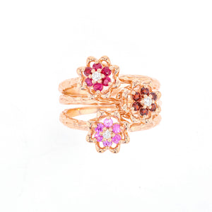 Tulip Rings - 10K Yellow Gold