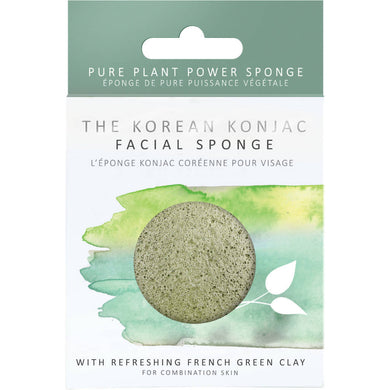 Premium Facial Puff with French Green Clay