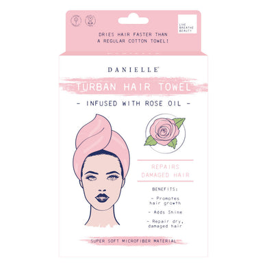 Rose Oil Infused Hair Turban