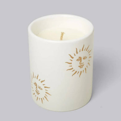 Sun Candle in White