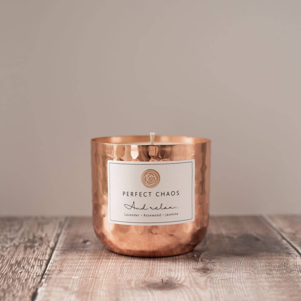 And Relax Copper Candle