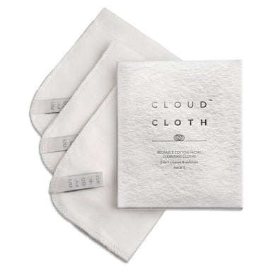 CloudCloth Organic Cotton Facial Cloth Wipes (3pack)