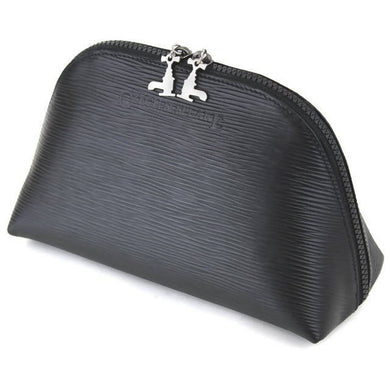 Travel Pouch - Soft Black Leather