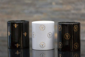 Sun Candle in Black