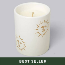 Load image into Gallery viewer, Sun Candle in White