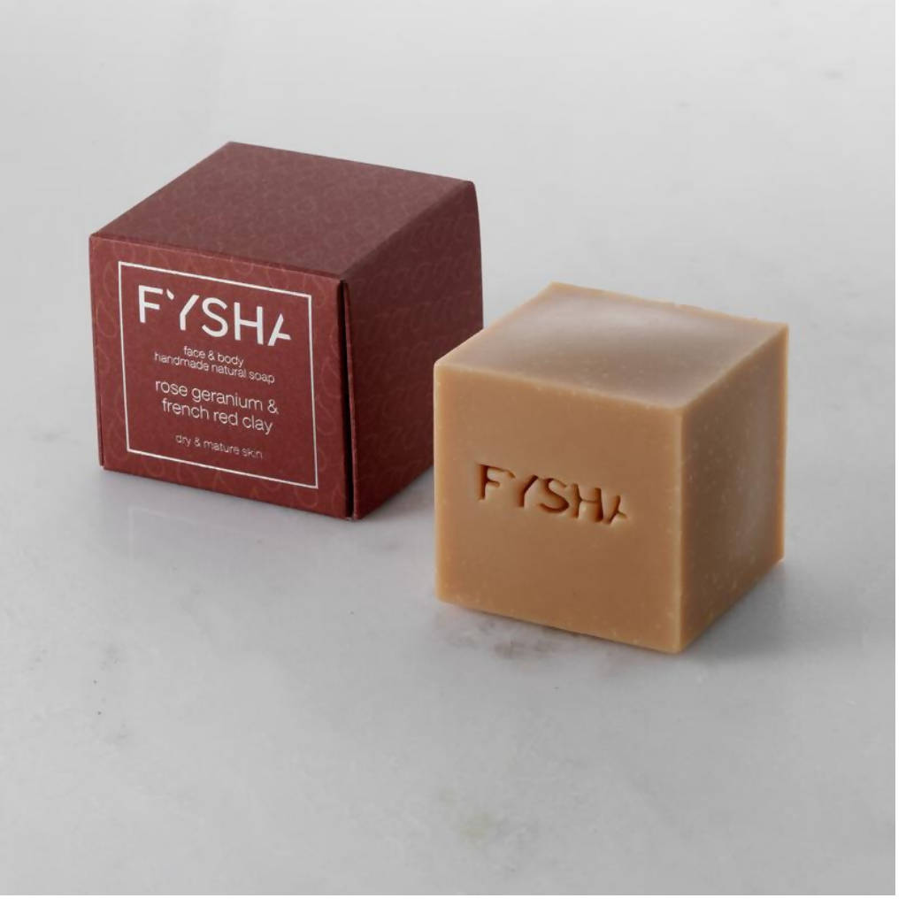 Rose Geranium & French Red Clay Soap