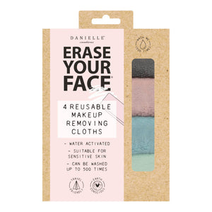 Eco Makeup Removing Cloths 4PK - Pastel