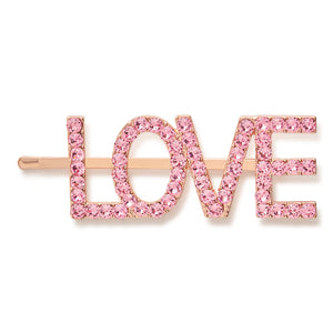 LOVE Swarovski Hair Slide