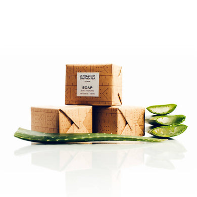 Natural Soap: Aloe + Avocado (pack of 3)