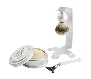 Oxford & Cambridge Shave Set & Stand