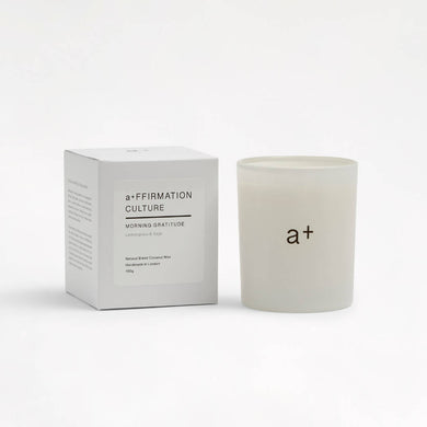 Morning Gratitude Affirmation Candle