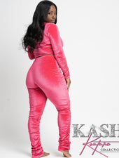 Kashing Out Velvet 2 piece set