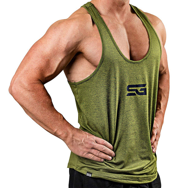 Satire Gym Performance Stringer olivgrün - Satire Gym Fitness T-Shirt Gym wear