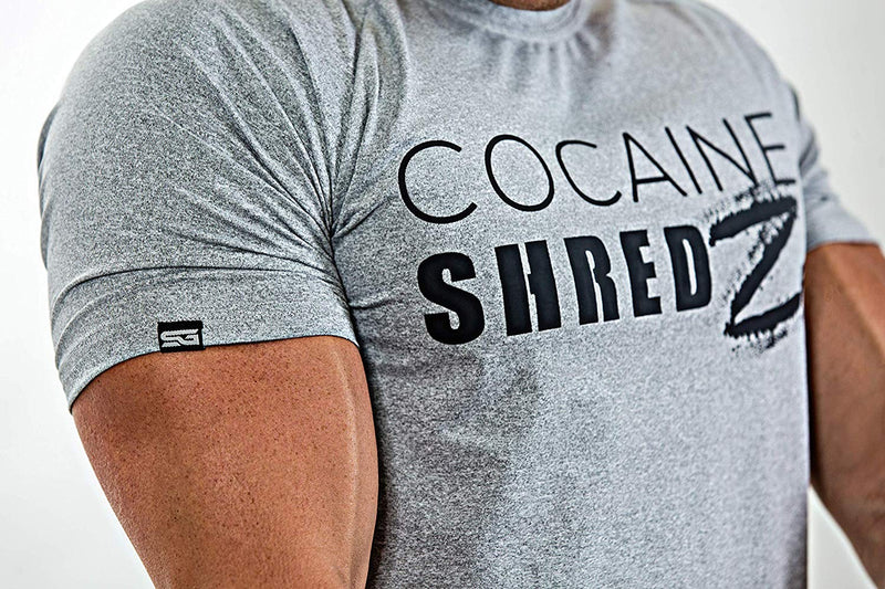 Satire T-Shirt - Cocaine Shredz grau - Satire Gym Fitness T-Shirt Gym wear