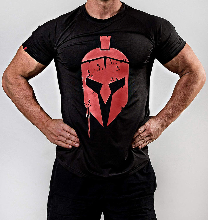Sparta T-Shirt – Front schwarz - Satire Gym Fitness T-Shirt Gym wear