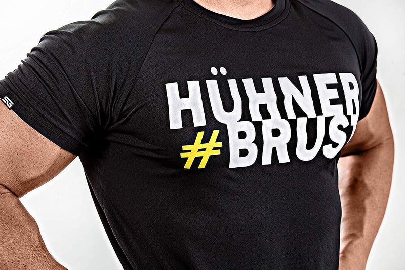 #Hühnerbrust – T-Shirt schwarz - Satire Gym Fitness T-Shirt Gym wear