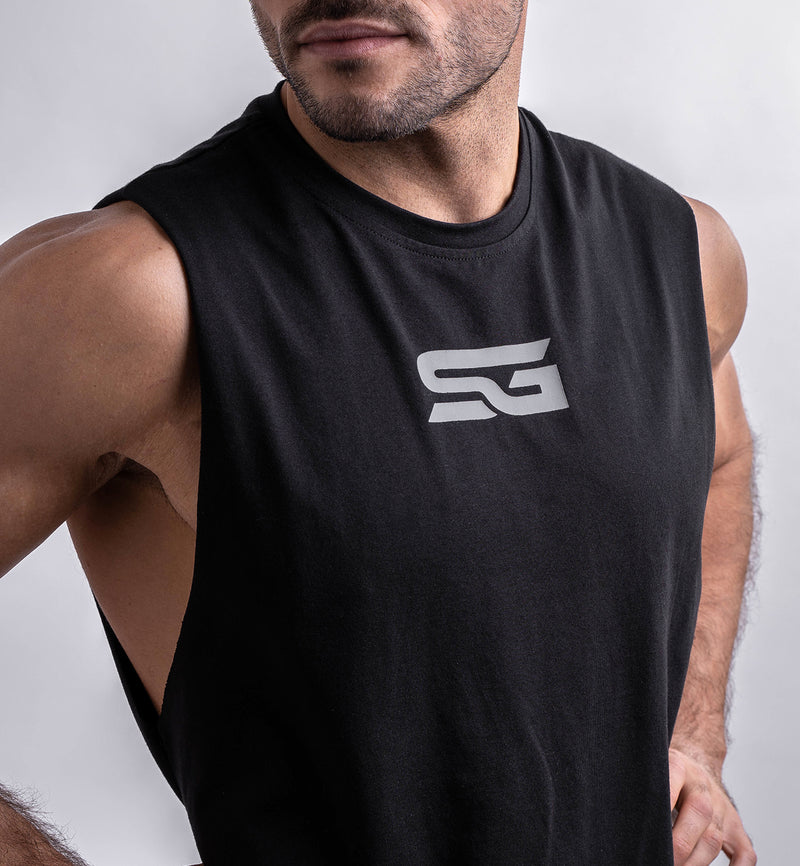 Cotton SG Cut off Tee | Schwarz