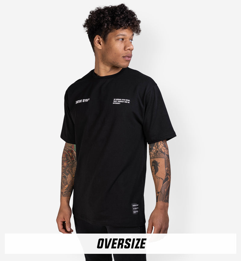 Cotton Oversize Tee | BLACK x WHITE