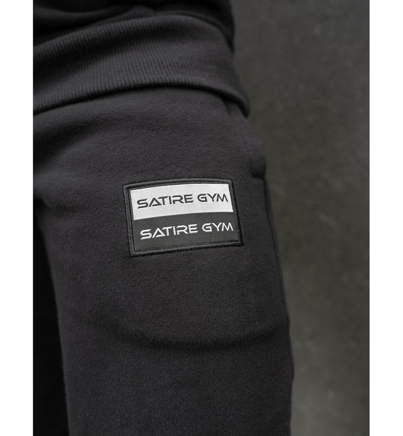 Cotton SG Sweatpants mit Patch - schwarz