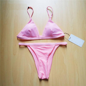 New Sexy Brazilian Bather Padded Swimwear Bikini Set