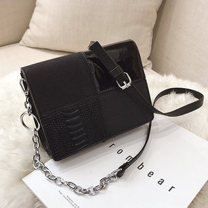 Hip Retro PU Leather Square Sac Shoulder Bag Crossbody Bag