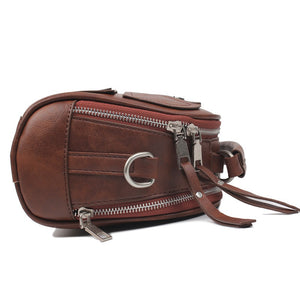 Hip Style Patchwork Leather Shoulder Cross Body Bag