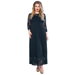 New Patchwork Lace Loose Long Maxi Event Dress