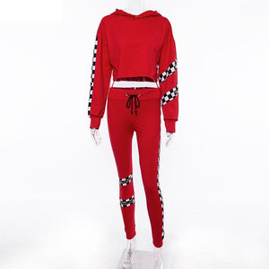 New Comfortable Side Striped Tracksuit Sportswear Yoga Set Verkadi.com