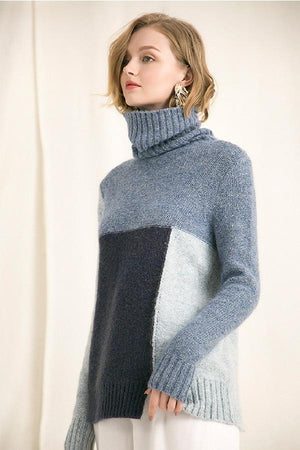Hip Mohair Wool Fork Poised Temperament Sweater Pullover