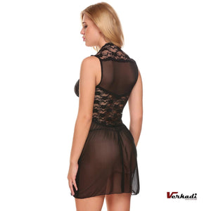 Sexy Lace Open Front Nightwear Lingerie with G-string Verkadi.com