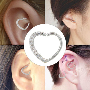 Heart Shaped Ear Cartilage Piercing