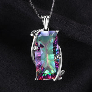 Topaz Necklace Sterling Silver Pendant