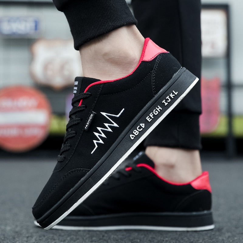 Men Casual High Top Skateboard Breathable Lace Up Athletic Sports Shoes Trainers
