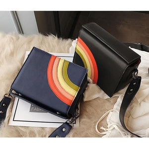 Color Rainbow Hard Cross Body Shoulder Messenger Bag Verkadi.com