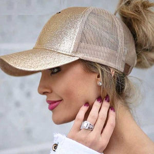 Casual Ponytail Adjustable Snap Back Baseball Hat Cap
