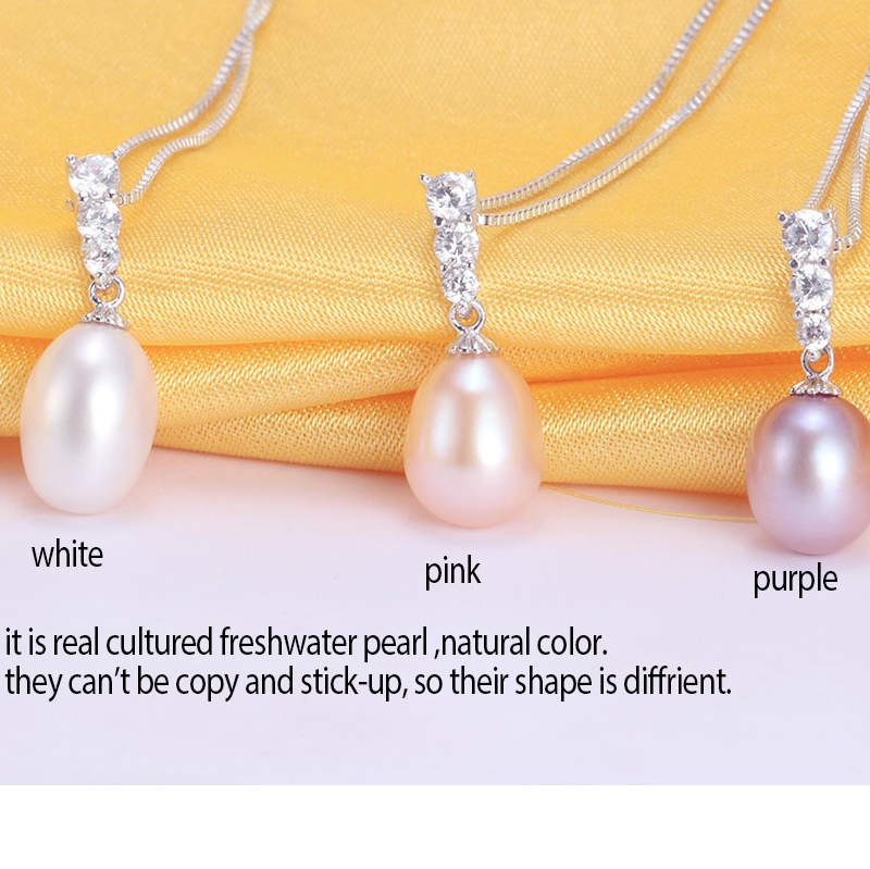 Real Pearl Pendant Necklace Earring Set Verkadi.com