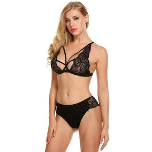 Sexy Unlined Lace Bra Briefs Lingerie Set Verkadi.com