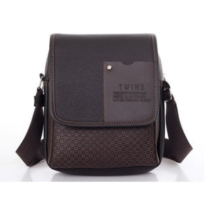 Vintage Unisex Cross Body PU Leather Plaid Shoulder Bag Verkadi.com
