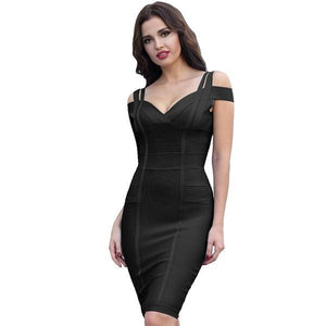 Sexy Bandage Off the Shoulder Stunning Bodycon Dress Verkadi.com