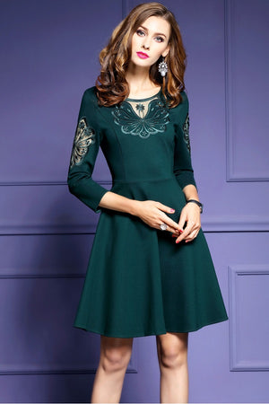 Embroidery Short A-Line Formal Mini Dress