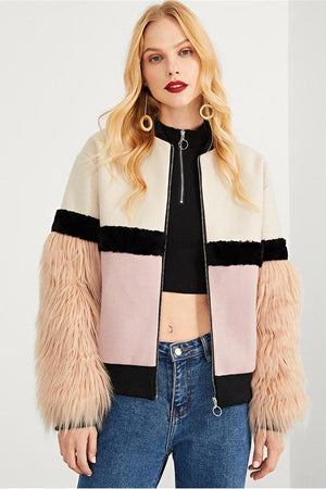 faux fur notched women jackets by verkadi