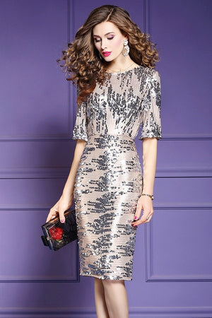 etro Package Hip Sequined Formal Party Midi Dress