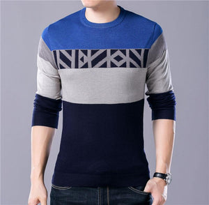 Smart Pattern Knitted Cotton Wool O-Neck Pullover Verkadi.com