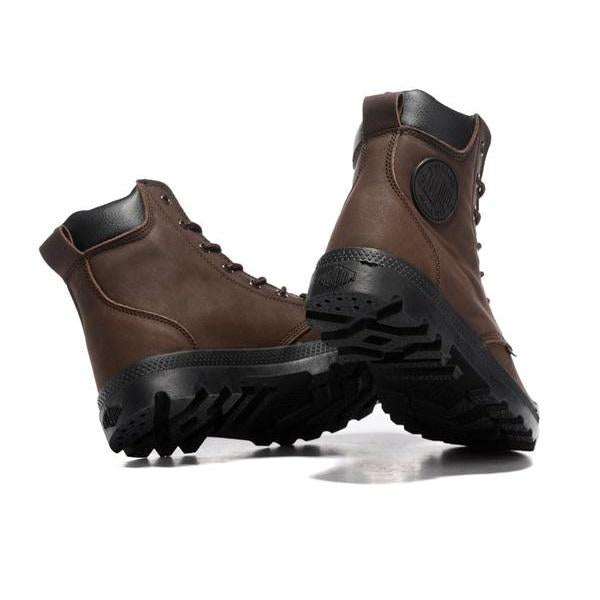 Solid Coffee Color Military Style Tactical Ankle Boots