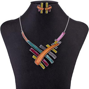 Multicolored Resin Abstract Design Jewelry Set Verkadi.com