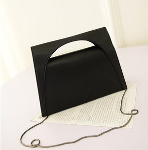 Fashion Solid Clutch Cross Body Messenger Handbag