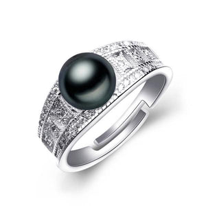 Silver Ring With Natural Freshwater Pearl