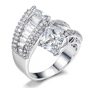 Two Stone Double Princess Cut Ring Verkadi.com