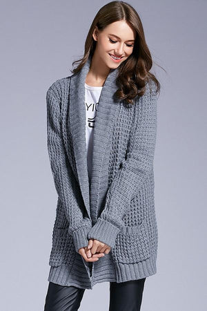 Euro Style One Size Loose Knitted Sweaters Cardigans