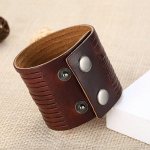 Wide Rope Snap Cuff Bracelet